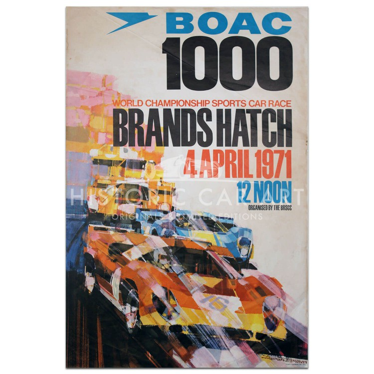 British | BOAC 1000km Race Brands Hatch 1971 Poster