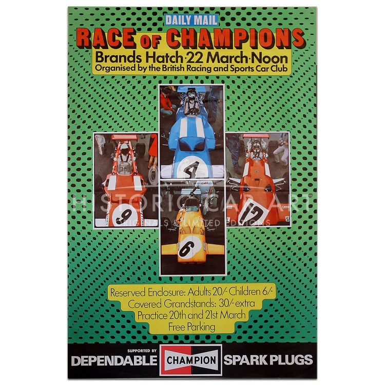 British | Race of Champions 1970 Brands Hatch Poster