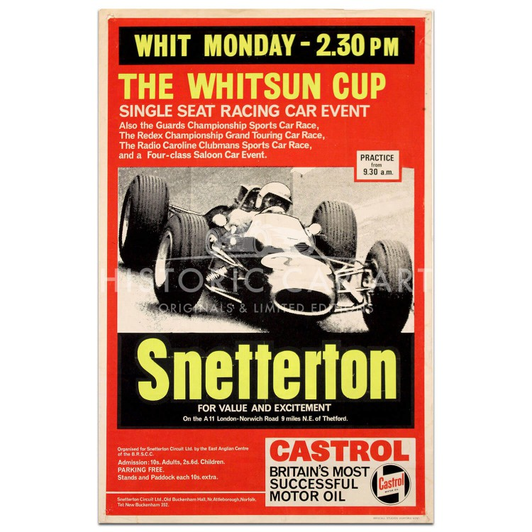 British | Snetterton The Whitsun Cup 1966 Poster
