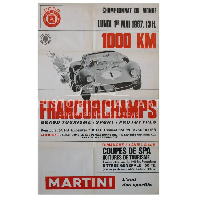 Belgian | Spa Francorchamps 1000km 1967 Poster