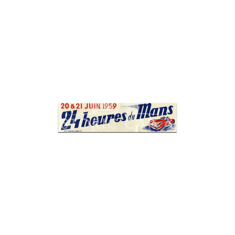 French | Le Mans 24 hours 1959 Sticker