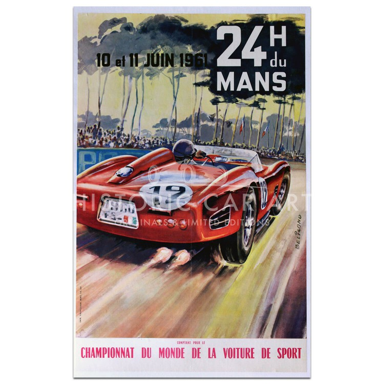 French | Le Mans 24 hours 1961 Poster