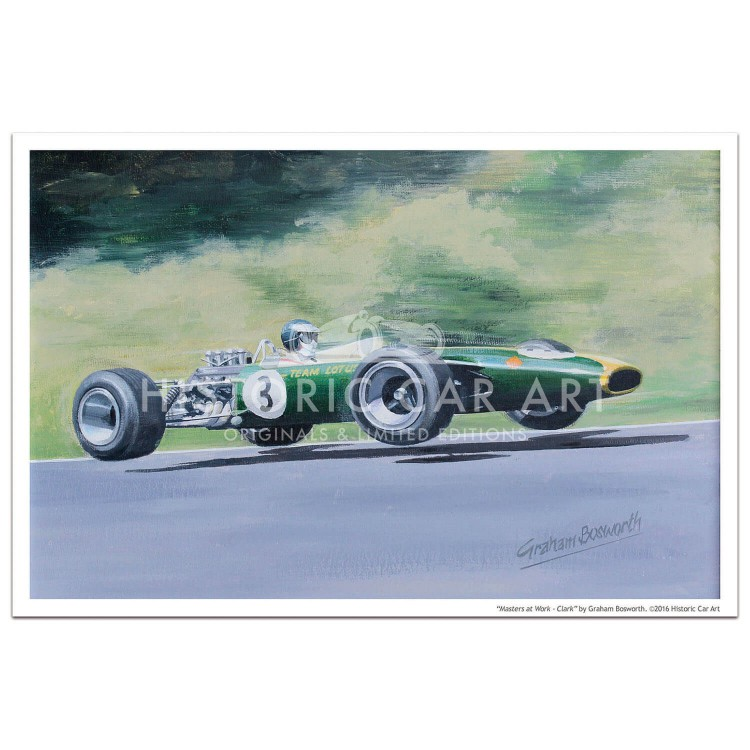 Masters at Work - Clark and Lotus 49 - Print