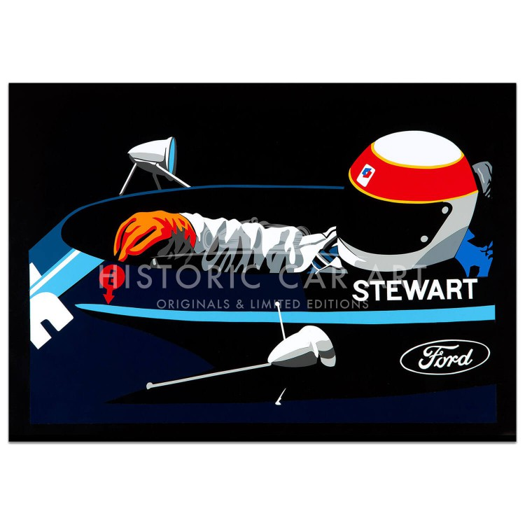 SPEED ICONS: Jackie Stewart - Print
