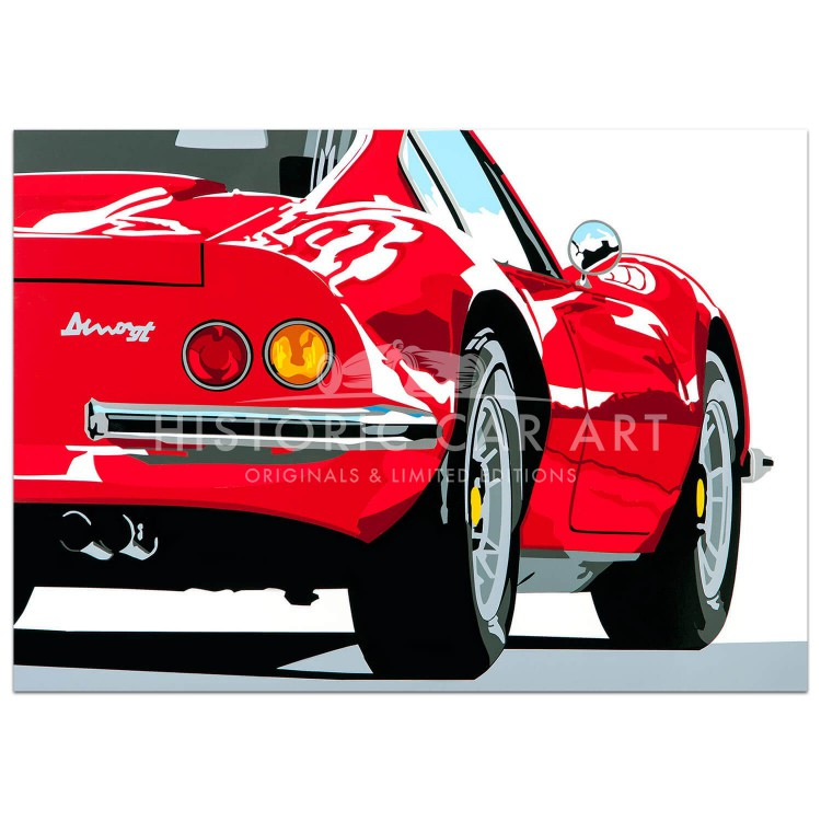 SPEED ICONS: Ferrari Dino 246GT - Print