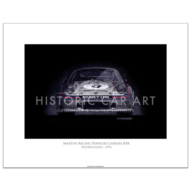 Martini Racing Porsche Carrera RSR 1974 - Print