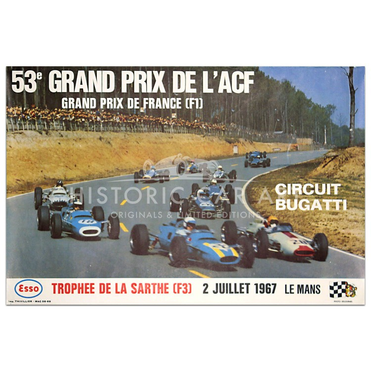 French Grand Prix (ACF) 1967 Le Mans Poster