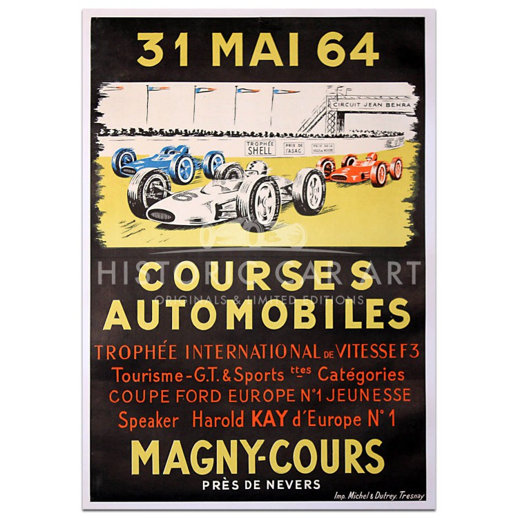 French | Trophee International de Vitesse Magny-Cours 1964 Poster