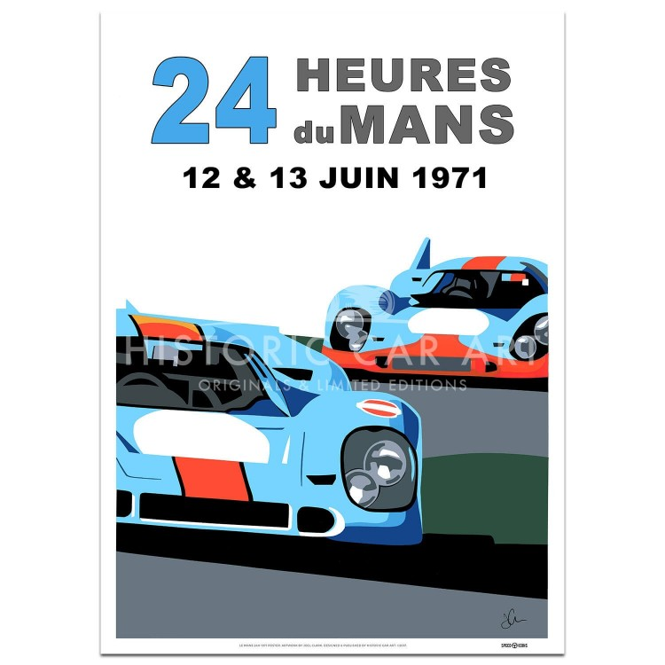 SPEED ICONS: Le Mans 24 Hours 1971 | Porsche | Poster