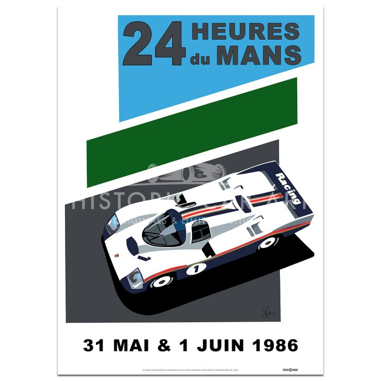 SPEED ICONS: Le Mans 24 Hours 1986 | Porsche | Poster