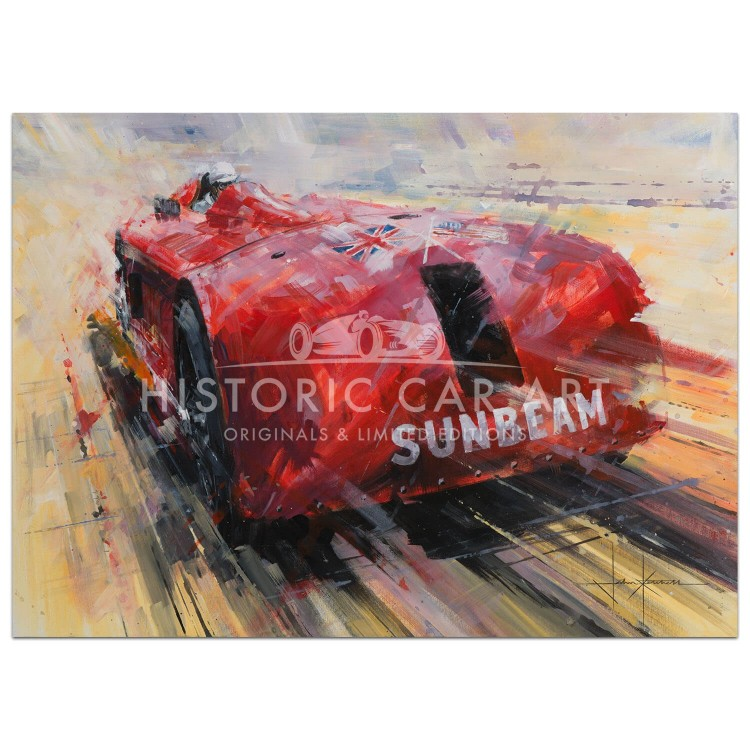 Seeing Red | Henry Segrave | 1927 1000hp Sunbeam | Daytona | Painting