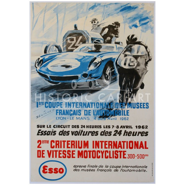 French | Le Mans 24 hours 1962 Essais Poster