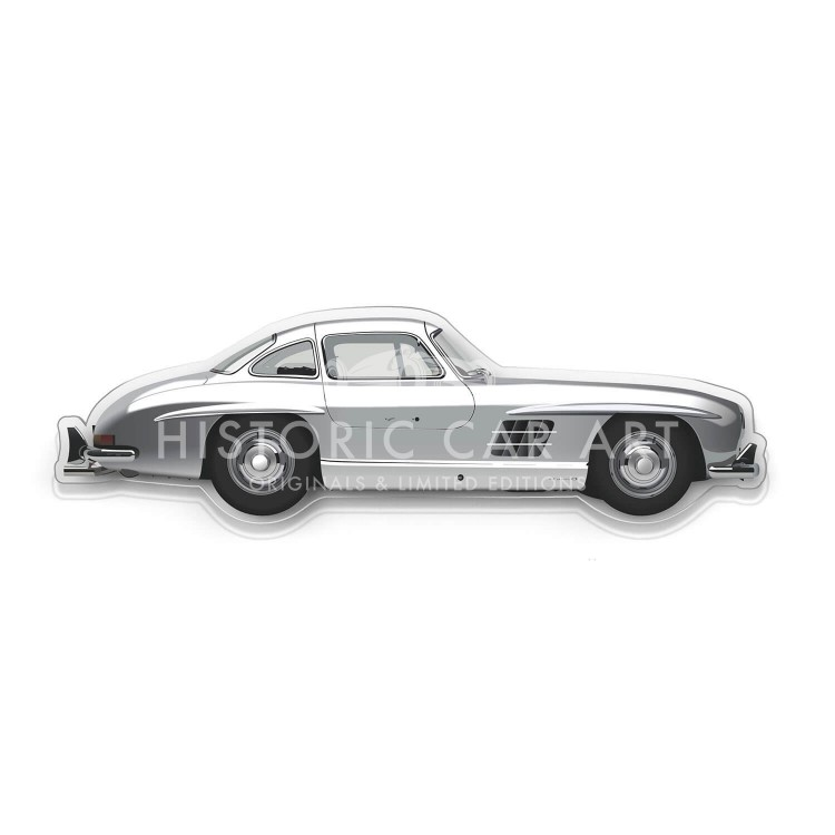 Halmo Sculpture | Mercedes-Benz 300SL Gullwing | Plexiglass Wall Art