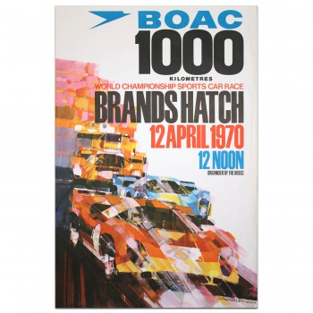British | BOAC 1000km Race Brands Hatch 1970 Poster
