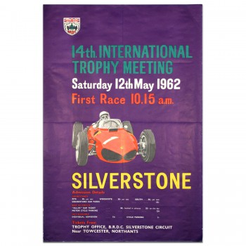 British | International Trophy Race 1962 Silverstone Poster