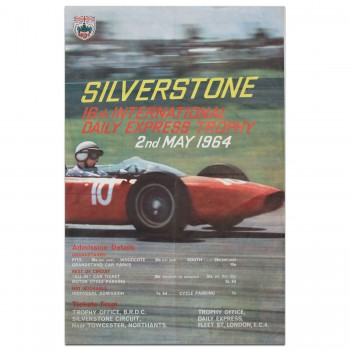 British | International Trophy Race 1964 Silverstone Poster