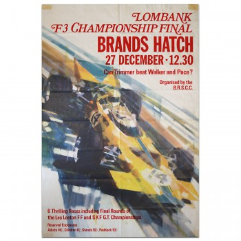 British | Brands Hatch F3 Championship Final 1971 Poster