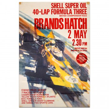 British | Brands Hatch Shell Super Oil Formula 3 Championship Race 1971 Poster