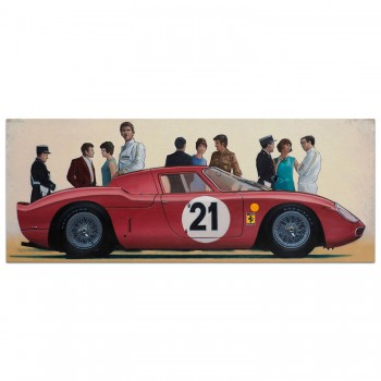 Before the Race - Le Mans 1965 - print