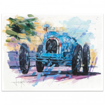 Man of Action | Chiron | Bugatti | Painting