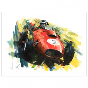 A Colourful Champion | Hawthorn | Ferrari | Painting