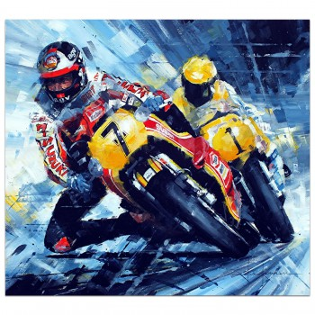 A Close Shave | Barry Sheene | Painting
