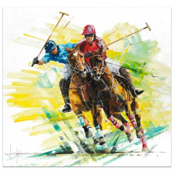 Pushing On | Polo Player | Painting