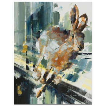Hare Speed | Wildlife | Painting
