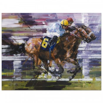 Neck and Neck | Horse Racing | Painting