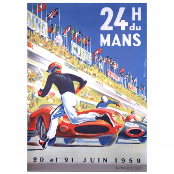 French | Le Mans 24 hours 1959 Poster (R)