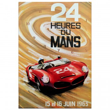 French | Le Mans 24 hours 1963 Poster