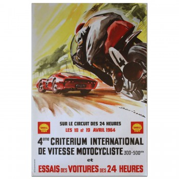 French | Le Mans 24 hours 1964 Essais (Practice) Poster