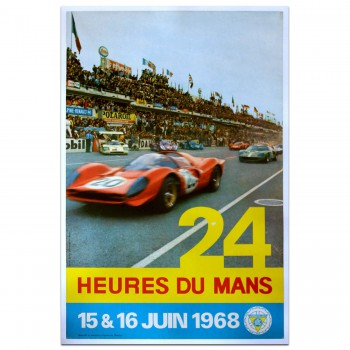 French | Le Mans 24 hours 1968 June Poster