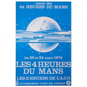 French | Le Mans 24 hours 1974 Essais (Practice) Poster