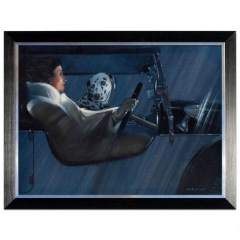 Snug as a Bug | 1930 Lagonda & Dalmation Dog | Artwork