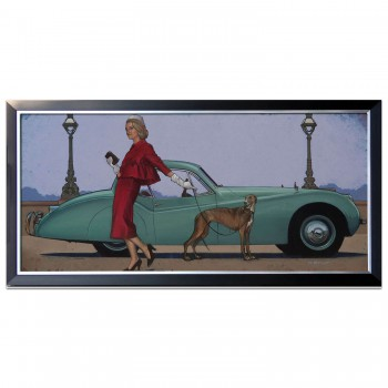 Chelsea Girls | Jaguar XK 120 | Chelsea Embankment London | Artwork