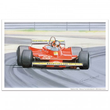 Masters at Work - Villeneuve and Ferrari 312T4 - Print