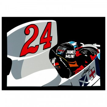 SPEED ICONS: James Hunt - Print