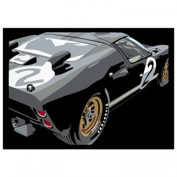 SPEED ICONS: Ford GT40 - Print