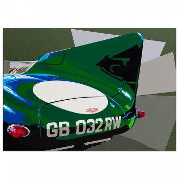 SPEED ICONS: Jaguar D-type - Print