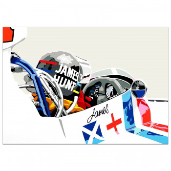 SPEED ICONS: James Hunt and Hesketh - Print