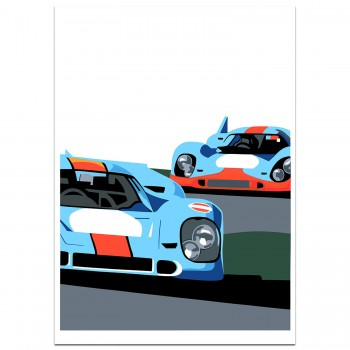 SPEED ICONS: Porsche Return to Le Mans Series No.1 - Print