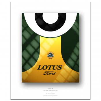 1967 Lotus 49 (Jim Clark / French GP) - Print