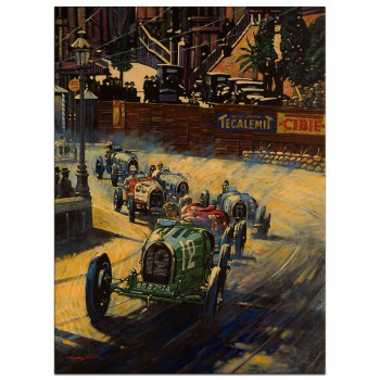 The First Monaco Grand Prix 1929 - Print