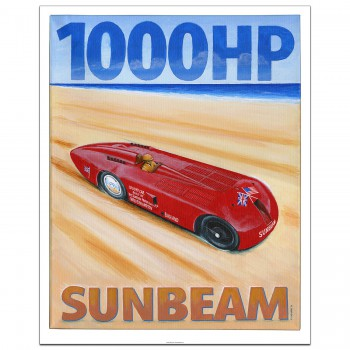 Henry Seagrave | 1000hp Sunbeam | Land Speed Record | Poster