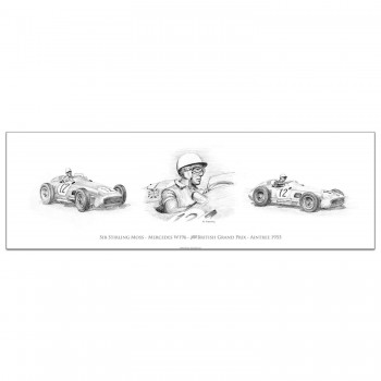 Stirling Moss British Grand Prix 1955 - Print