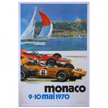 French | Monaco Grand Prix 1970 Poster
