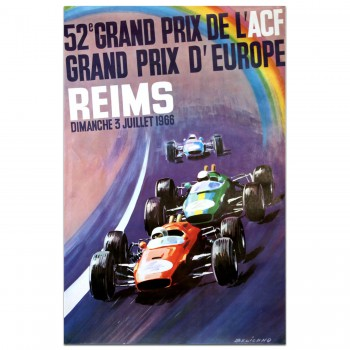 French Grand Prix (ACF) 1966 (European Grand Prix) Poster