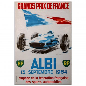 French | Grands Prix de France 1964 Albi Poster