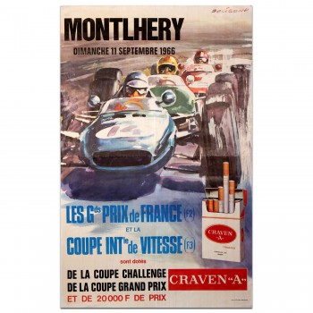 French | Grands Prix de France 1966 Linas Montlhery Poster